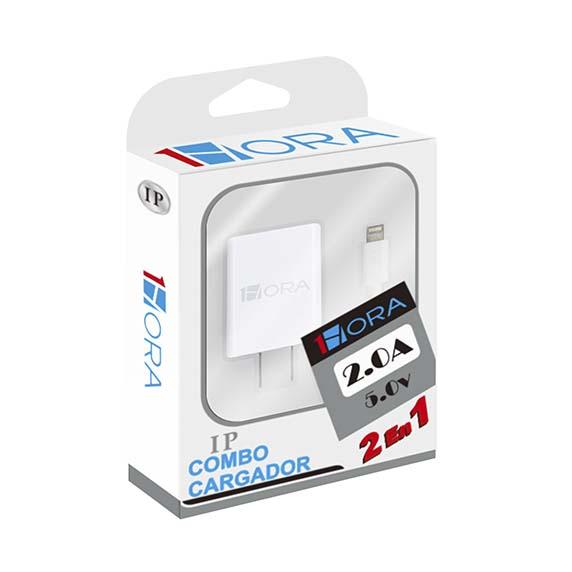 Cargador para celular 1 HORA para iPhone (cubo + cable)