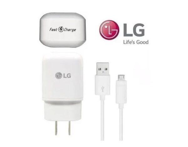 Cargador LG carga rapida tipo v8 calidad original